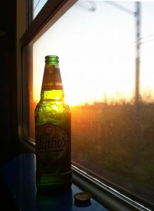 beer on train