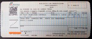 Simple train ticket to Venice